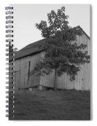 Tobacco Barn II In Black And White Spiral Notebook
