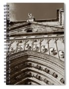 Toledo Cathedral Entrance In Sepia Spiral Notebook