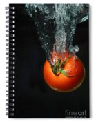 Tomato Falling Into Water Spiral Notebook