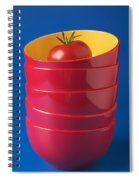 Tomato In Stacked Bowls Spiral Notebook