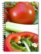 Tomato Salad Close Up Spiral Notebook