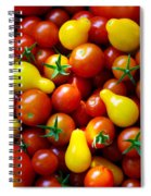 Tomatoes Background Spiral Notebook