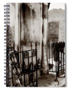 Tomb Famille Perrault Black And White Spiral Notebook
