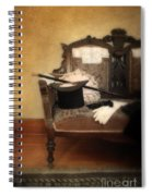 Top Hat And Cane On Sofa Spiral Notebook