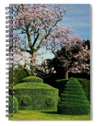 Topiary Garden In Spring Spiral Notebook
