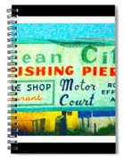 Topsail Island Old Sign Spiral Notebook