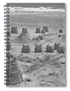 Topsail Island Sandcastle Spiral Notebook