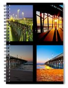 Topsail Piers At Sunrise Spiral Notebook