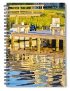 Topsail Sound At Sunset Spiral Notebook
