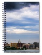 Tornado Over The Capitol Spiral Notebook