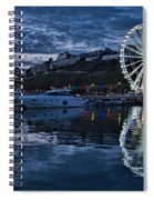 Torquay Marina And The Big Wheel Spiral Notebook