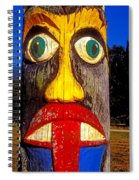 Totem Pole With Tongue Sticking Out Spiral Notebook