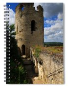 Tour Du Moulin At Chateau Chinon Spiral Notebook