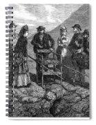 Tourists At Vesuvius, 1872 Spiral Notebook