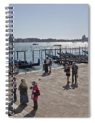 Tourists In Venice Spiral Notebook
