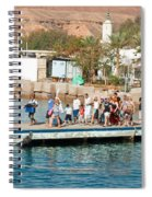 Tourists Waiting To Climb Onto Dive And Snorkeling Boats At Sharm El Sheikh Spiral Notebook