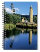 Tower Near A Lake, Round Tower, Ulster Spiral Notebook