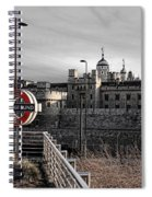 Tower Of London With Tube Sign Spiral Notebook