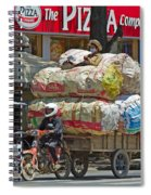 Towing A Big Load Spiral Notebook