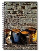 Toxic Alley Grunge Art Spiral Notebook