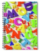 Toy Letters Spiral Notebook