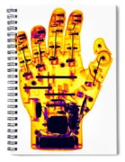 Toy Robotic Hand X-ray Spiral Notebook