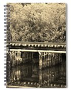 Track On The River In Sepia Spiral Notebook