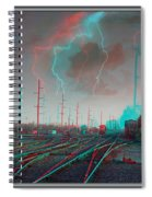 Tracking The Storm - Red-cyan Filtered 3d Glasses Required Spiral Notebook