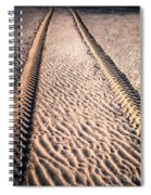 Tracks In The Sand Spiral Notebook
