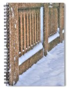 Tracks In The Snow Spiral Notebook