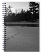 Tracks To The Water Spiral Notebook
