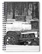 Tractor At The Mill  Spiral Notebook