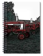 Tractor Row Spiral Notebook