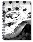 Tractor Seat Close Up Black And White Spiral Notebook