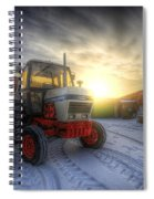 Tractor Sunrise Spiral Notebook
