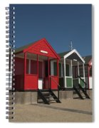 Traditional Beach Huts On The Seafront Spiral Notebook