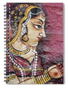 Traditional Painting On A Wall Jodhpur Spiral Notebook