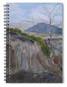 Trails End - Rocks Trees And Sky Spiral Notebook