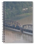 Train Along New River 3 Spiral Notebook