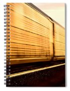 Train At Sunset Spiral Notebook