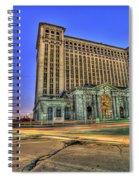 Michigan Central Train Depot Station Detroit Mi Spiral Notebook