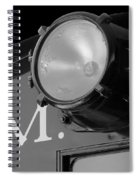 Train Headlight Spiral Notebook
