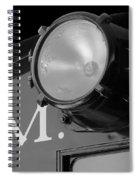 Train Headlight Spiral Notebook