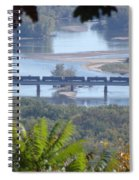Train On The Mississippi Spiral Notebook