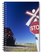 Train Passing Railway Crossing Spiral Notebook