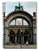Train Station At Lucerne Spiral Notebook