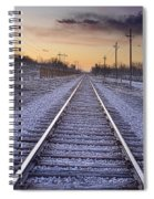 Train Tracks And Color 2 Spiral Notebook
