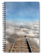 Train Tracks Into The Clouds Spiral Notebook