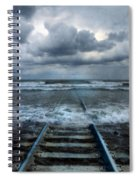 Train Tracks Into The Sea Spiral Notebook
