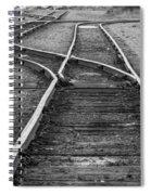 Train Tracks Switch Spiral Notebook